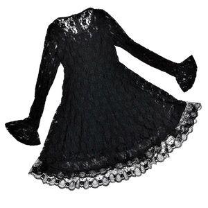 Windsor Flirty Lace Bell Sleeve Long Sleeve Dress